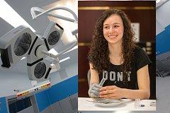 Bionickou protézu předvedla sedmnáctiletá studentka obchodní akademie Kamila Šabršulová ze Vsetínska, která se bez pravé ruky již narodila.