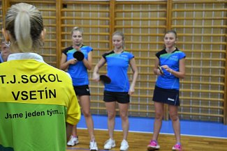 stolní tenistky Sokola Vsetín