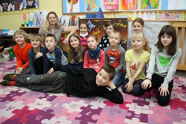 Spojená 2. a 4. třída v malotřídní základní škole v Leskovci; školní rok 2014/2015, středa 28. ledna 2015.