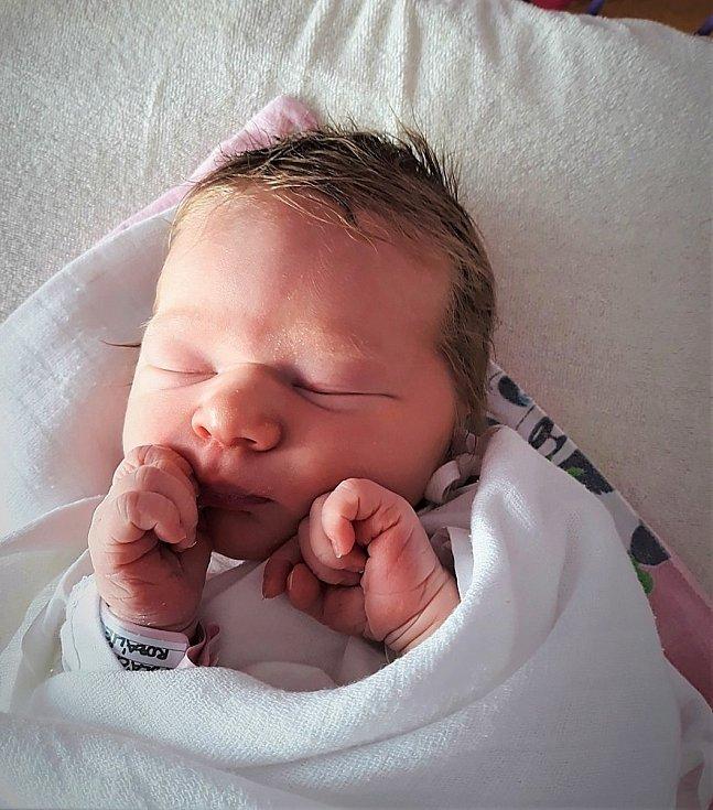 Rozálie Poláčková, Valašské Meziříčí, narozena 11. ledna 2021 ve Valašském Meziříčí, míra 49 cm, váha 3290 g