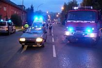 Dopravní nehoda mezi osobním autem zn. Š Favorit a malým motocyklem zn. Simson