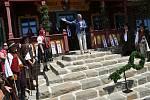 Hejtman Moravskoslezského kraje Ivo Vondrák hovoří při slavnostním otevření obnovené chaty Libušín na Pustevnách v Beskydech; čtvrtek 30. července 2020