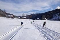 Trasa pro běžky ve Ski areálu Razula.