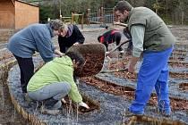 Lidé ve Francově Lhotě na Hornolidečsku si v sobotu 3. listopadu 2012 uspořádali už druhou brigádu, na které společně pracují na úpravě odpočinkové zóny ve vesnici.