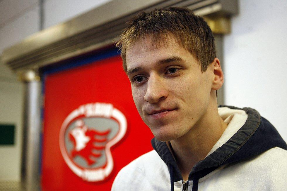 Jakub Štěpánek během srazu české hokejové reprezentace.