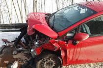 Při nehodě ve Vsetíně, Bobrkách se ve středu 29. prosince zranily dvě děti.