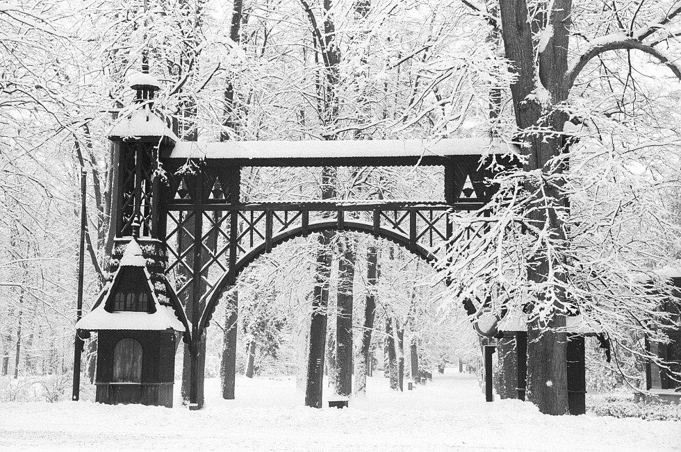 Zima v Rožnově pod Radhoštěm, únor 2005.