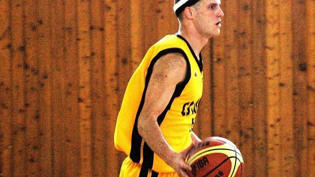 Basketbalista Valašského Meziříčí Jan Stehlík.