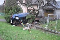 Mladíkovi se nic nestalo. Poškodil ale stromy, plot a plynovou přípojku.