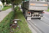 Dopravní nehoda ve Vsetíně.