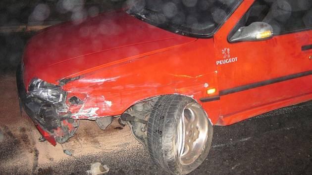Dopravní nehoda v Brankách.