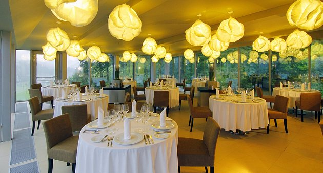 Restaurace Vyhlídka hotelu Lanterna.