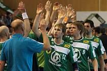 Házenkáři Gumáren Zubří (zelené dresy). Ilustrační foto.