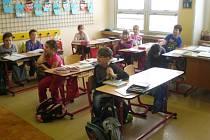 Třída ve škole ve Francově Lhotě. Ilustrační foto.