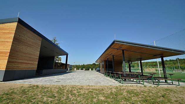 Vidče - nově vybudované výletiště v rekonstruovaném sportovně-kulturním areálu.