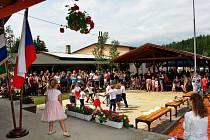 Stoleté výročí TJ Sokol Bystřička oslavili 8. června 2019 na hřišti U Lukášů. V programu vystoupily děti z místní mateřinky.