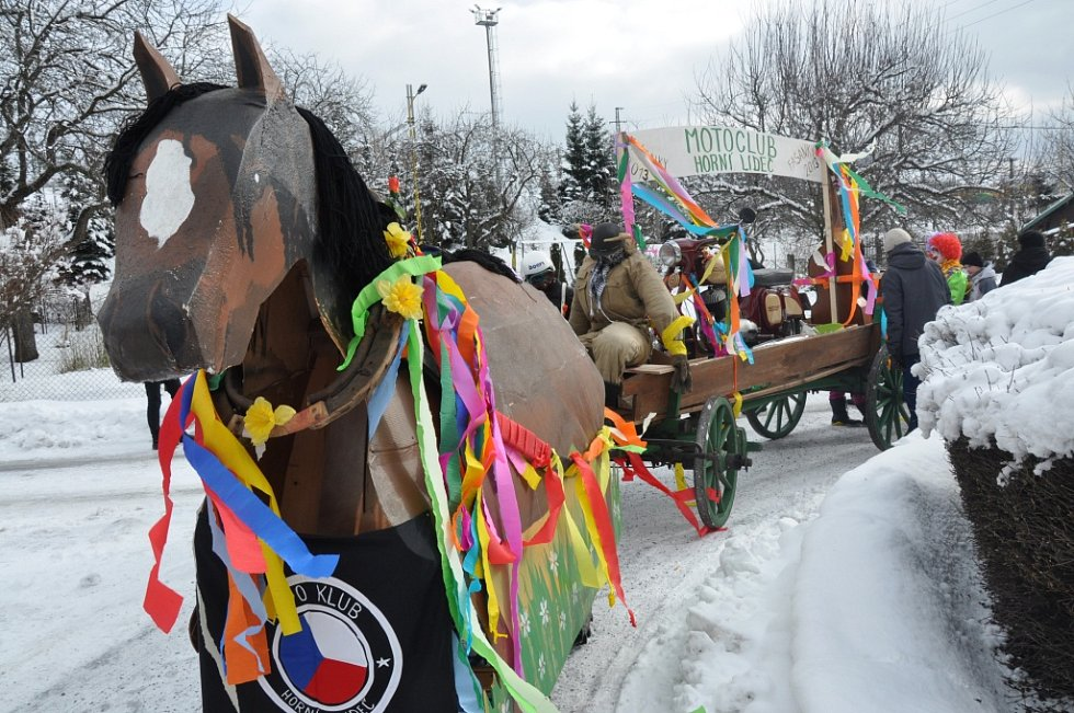 Fašanková obchůzka v Horní Lidči, v sobotu 9. února 2013