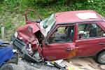 Dopravní nehoda ve valašskomeziříčské místní části Poličná.