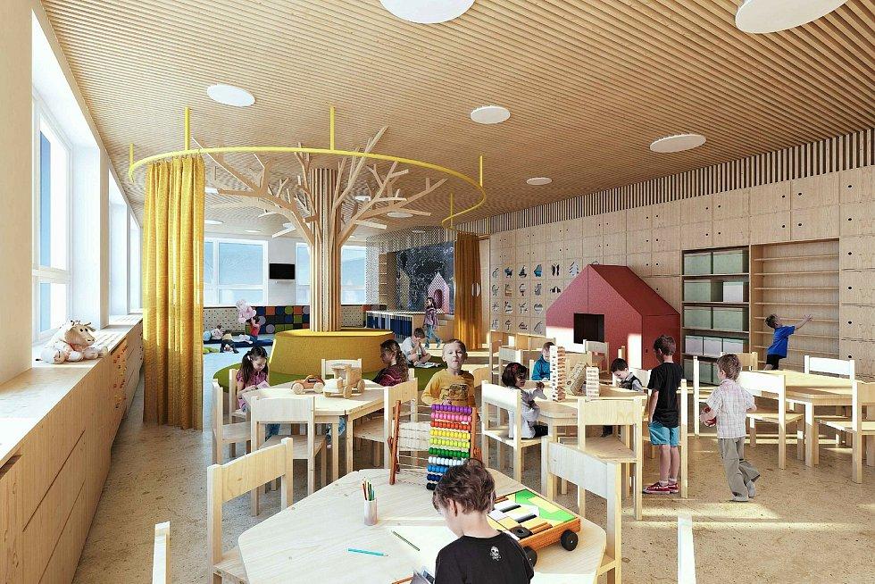 Vizualizace budoucí podoby herny kladerubské mateřské školy