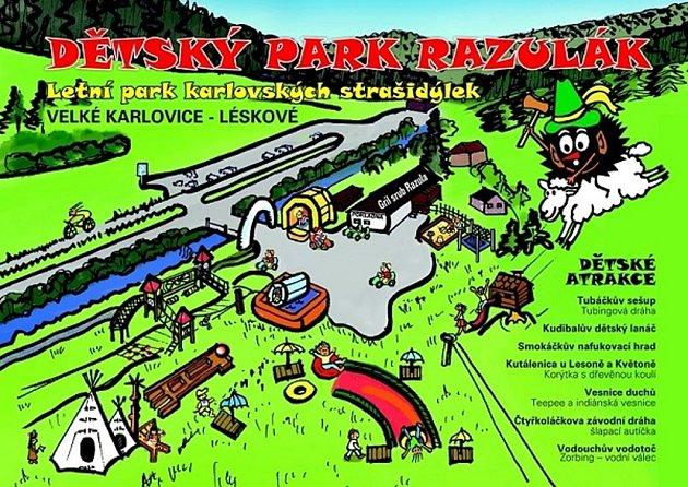 Razulák - mapa.