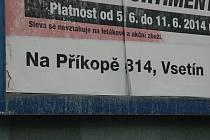 Ulice ve Vsetíně Na Příkopě patří k nejkratším ve městě.