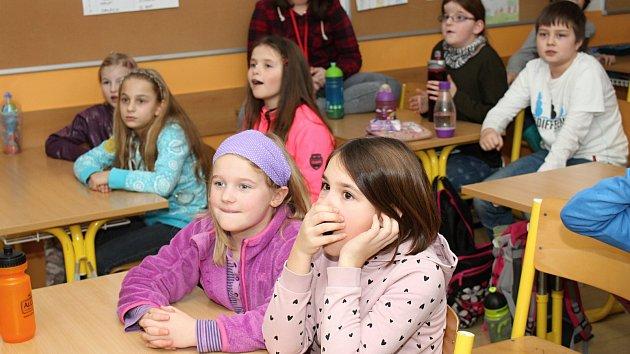 Olympijské fandění na Základní škole Integra ve Vsetíně