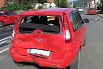 V Hovězí bourala tři auta, poškození LPG systému se nepotvrdilo