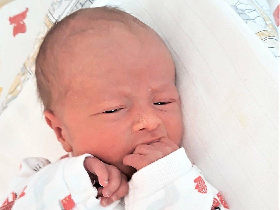 Eduard Potěšil, Oznice, narozen 12. února 2021 ve Valašském Meziříčí, váha 2480 g