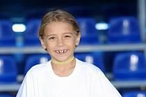 Mladá 10letá fotbalistka z Valašska Magdaléna Černá již nyní hájí barvy mládežnických výběrů Baníku Ostrava.