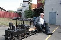Jiří Sič postavil svoji první parní lokomotivu před čtyřiceti lety