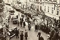 Návštěva presidenta T. G. Masaryka v Rožnově pod Radhoštěm, 24. června 1928