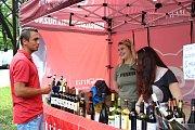 Současně s Ondrášovou valaškou se v rožnovském městském parku konal také festival vína.