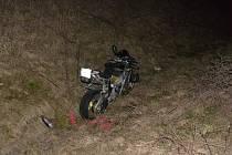 Nehoda motorkáře u Vsetína (Jablůnka).