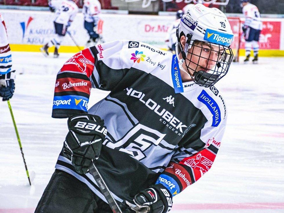 Filip Krajčík v úterý debutoval v nejvyšší soutěži.