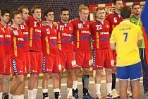 Házenkáři České republiky v hale ve Zlíně před vítězným podzimním zápasem kvalifikace s Řeckem. Nyní je ve Zlíně čeká Norsko a vymůžete být u toho.