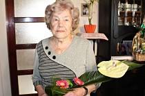 Nejstarší obyvatelka Rožnova pod Radhoštěm paní Blažena Kozáková oslavila 2. února 2016 103 let.
