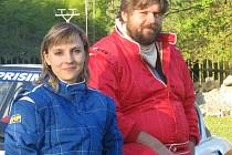 Martin Hrachovec jezdí se spolujezdkyní Hankou Vránskou.