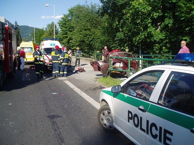 Nehoda u Rožnova pod Radhoštěm