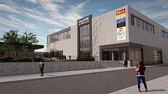 Vizualizace možné budoucí podoby obchodní galerie, kterou před vsetínským vlakovým nádražím za 250 milionů korun vybuduje firma Valatrans.