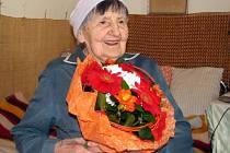 Anežka Zacharová z Valašského Meziříčí oslavila 102. narozeniny