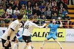 Extraligoví házenkáři Zubří v sobotním 19. kole v sobotu doma porazili posledního finalistu Plzeň 24:23.