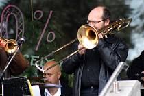 Na Dolním náměstí ve Vsetíně vystoupil Olomoucký Dixieland band