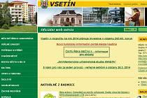 Webové stránky Vsetína.