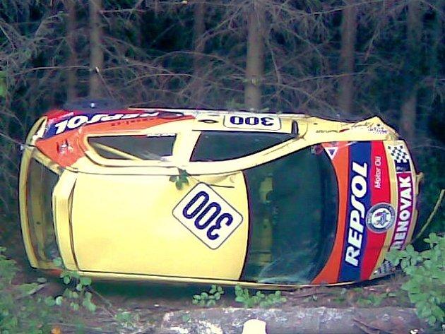 Při havárii nebyl nikdo zraňen