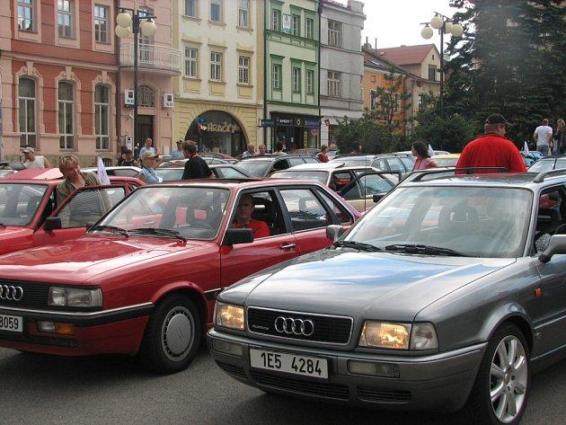 Sraz Audi ve Valašském Meziříčí