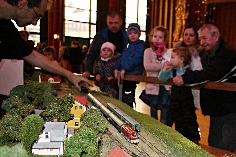 Výstava modelů železnice a vláčků ve vsetínském Domě kultury; sobota 5. ledna 2019.