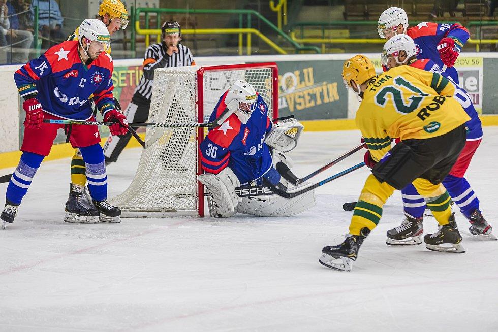 Prvoligoví hokejisté Vsetína porazili doma Třebíč 4:2