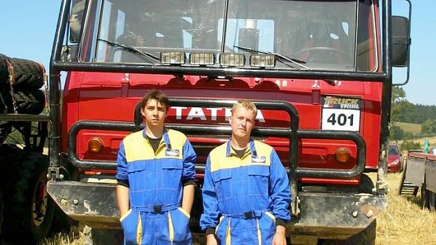 Posádka Staněk Řičičář s vozem Tatra 815