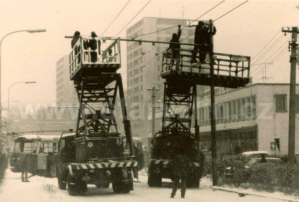 Zima ve Zlíně 80. léta