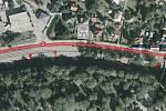 Třetí etapa opravy silnice I/35 na nábřeží Dukelských hrdinů v Rožnově pod Radhoštěm.